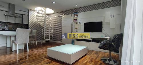 Apartamento Duplex Com 3 Dormitórios À Venda, 195 M² Por R$ 1.060.000,00 - Baeta Neves - São Bernardo Do Campo/sp - Ad0013