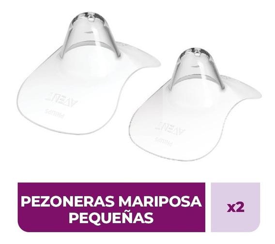 Pezonera Mariposa Avent Scf156-00 Silicona Small X 2 Unid
