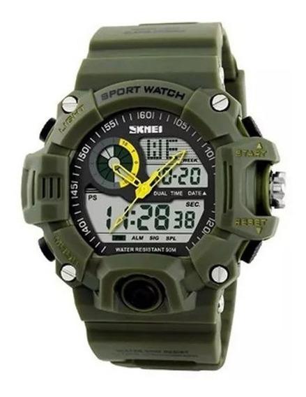 Relógio Masculino Skmei Anadigi 1029 Verde