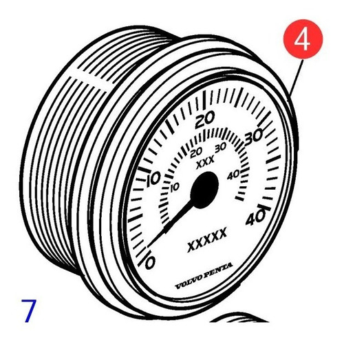 21234529 Relógio Velocímetro Preto Volvo Penta