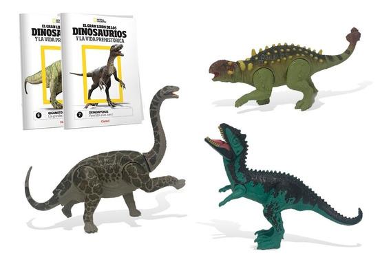 Clarín Colección Natgeo Dinosaurios Set 4 De 3 Fascículos
