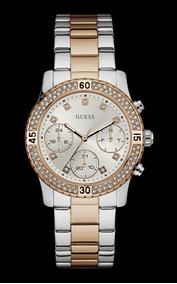 Relógio Guess Feminino Bicolor Cristais 92595lpgsga6