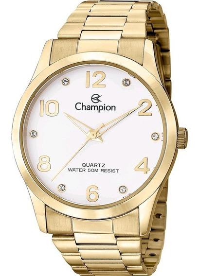 Relógio Feminino Dourado Champion Original Cod15