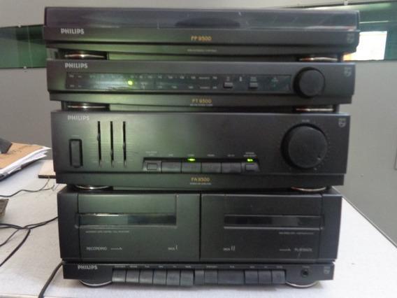 Aparelho De Som Philips As 9300 - Toca Disco, Rádio Am/fm