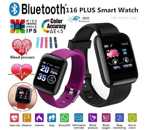 Reloj Inteligente Bluetooth Ritmo Cardiaco Multifuncion