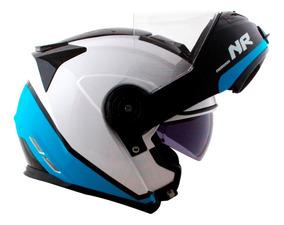 Capacete Robocop Norisk Ff345 Route Chance Azul Branco Bmw