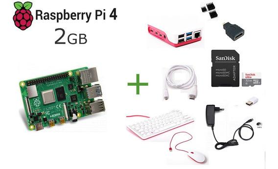 Raspberry Pi 4 - 2gb Ram,case Teclado E Mouse Oficial