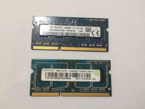 Memoria Ram 2x2gb Ddr3 P/notebook (usado)