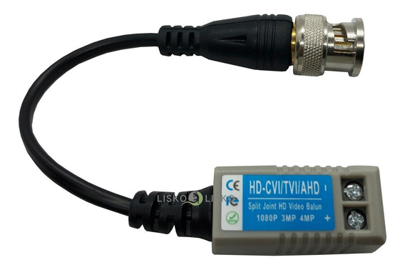 Kit C/ 20 Videos Balun Cftv Ahd Analogico Passivo Bnc