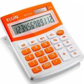Calculadora De Mesa Elgin Mv 4128 12 Dígitos Laranja Vitrine