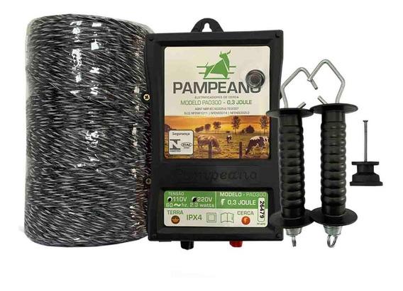 Kit Eletrificador Rural Cerca Eletrica Gado Boi Caes 500m