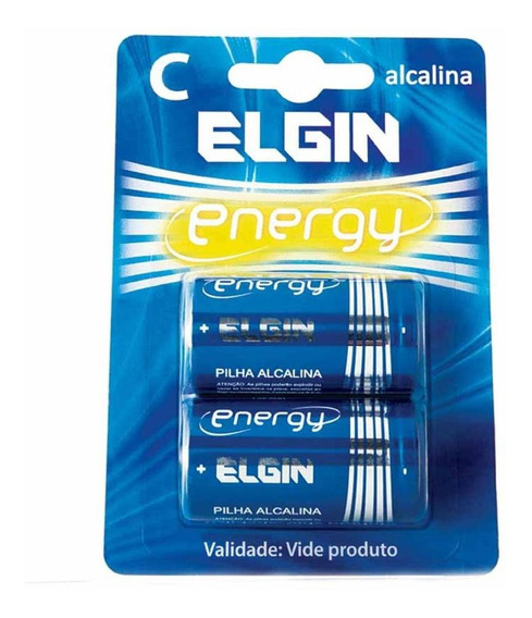 Pilha C Media Energy Alcalina 1,5v Lr14 / 2un / Elgin