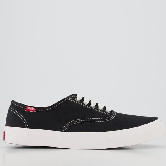 Tenis Fem. Coca Cola Shoes Kick Summer Preto/cinza Cc0471