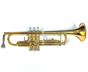 Trompete Yamaha Bb Com Bico E Maleta Ótimo Estado A9807