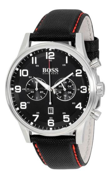 Relógio Masculino Hugo Boss 1512922 Pulseira De Couro