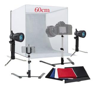 Kit Foto Estudio Grande Caja De Fotografía 60cm Con Luces