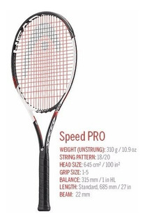 Raqueta Tenis Head Speed Touch Pro Novak Djokovic Envio Pais