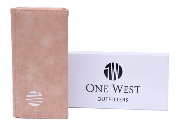 Billetera De Mujer/nena Tipo Gamuza Triple One West /976-1