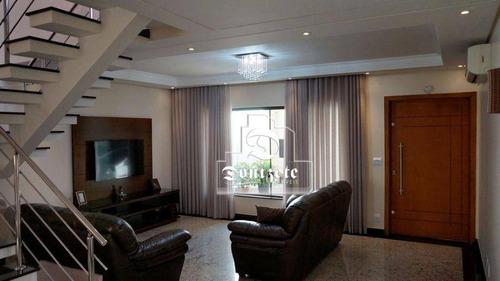 Sobrado Com 3 Dormitórios À Venda, 247 M² Por R$ 1.650.000,00 - Vila Assunção - Santo André/sp - So2079