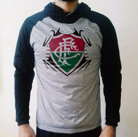 Casaco Fluminense Com Capuz - Blusa De Frio Raglan