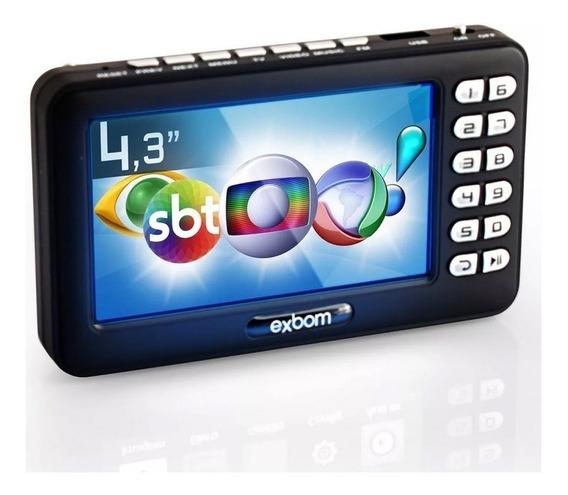 Mini Tv Digital Portátil Tela 4.3 Usb Sd Rádio Fm Isdbt