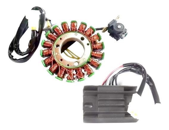 Kit Estator Do Magneto Suzuki Yes 125 + Regulador Voltagem
