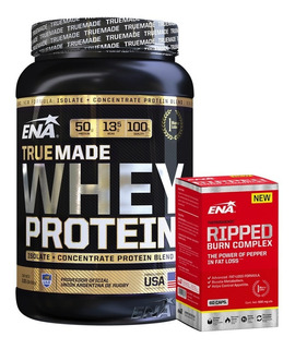 Combo Ena Whey Protein True Made 2 Lb + Ripped Burn Complex