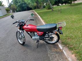 Honda Cg 125 1982 Muito Bem Conservada Placa Preta Coleção