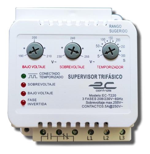 Protector Supervisor De Voltaje Trifásico 220v Ec Controls