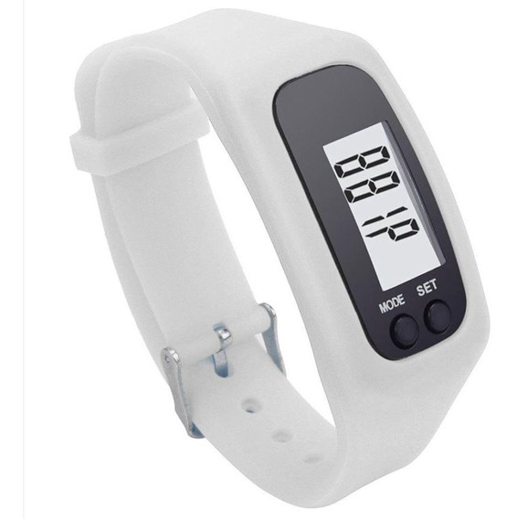 Relógio Pedômetro Branco