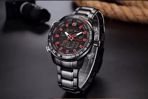 Relógio Masculino Luxo Naviforce Tipo Militar / Esportivo