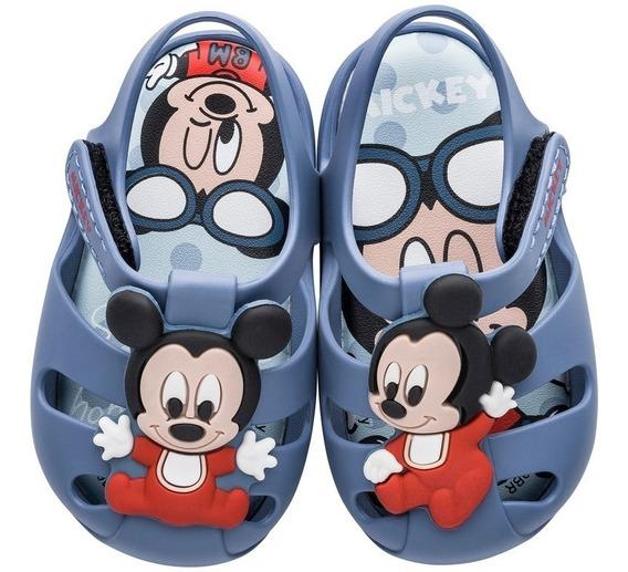 Sandália Infantil Baby Disney Sweet Mickey 21932 Novo