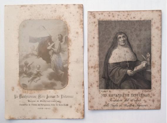 Estampas Religiosas Siglo 19 S. Juana Lestonnac Notre Dame