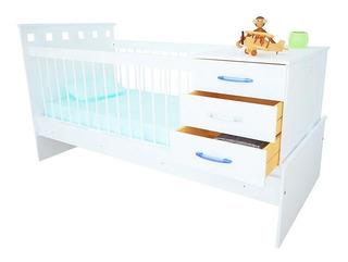 Cuna Funcional Cajonera Bebes Niños Infantil Serie 5 Moderna