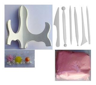 Kit Recuerdo Impresión Huella De Bebé, Mascota Arcilla Suave
