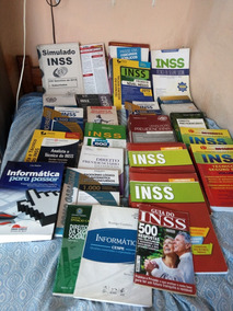Vendo Lote De Livros Concurso Inss + Livros De Informatica