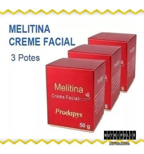 Melitina - Creme Facial 50g - 3 Potes - Prodapys