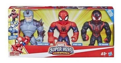Imagem 1 de 2 de Kit Homem Aranha Mega Mighties Rhino Spider Man Kid Arachnid