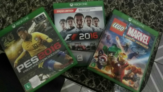 Kit Jogos Xbox One- Pes 2016 - F1 2016 - Marvel Super Heroes