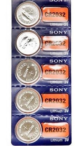 Pila Bateria De Litio Sony Original Cr 2032 3v Sellada X5