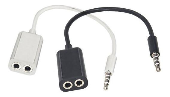 Cabo Adaptador Splitter P2 Audio Duplicador De Fone Ouvido