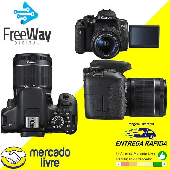 Câmera Canon T6i C/ Lente 18-55 E Cartão De Memoria De 32gb
