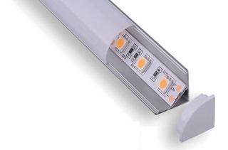 Perfil De Aluminio Para Empotrar O Sobreponer Sin Tira Led