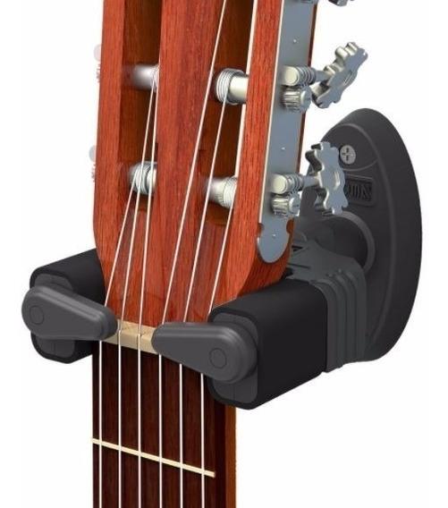 Kit 2 Suportes De Parede C/ Trava Automática Violão Guitarra