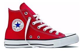 Converse All Star Chuck Taylor Cano Alto Vermelho Lona