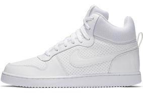 Tênis Nike Court Borough Mid Cano Médio Alto Branco Feminino