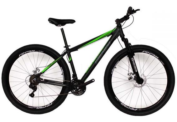 Bicicleta Mtb Aro 29 Elleven Gear 21 Marchas Preto/verde