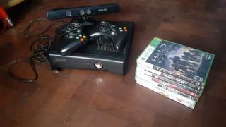 Xbox 360 Slim + 2 Joystick + 7 Juego + Kinect Original