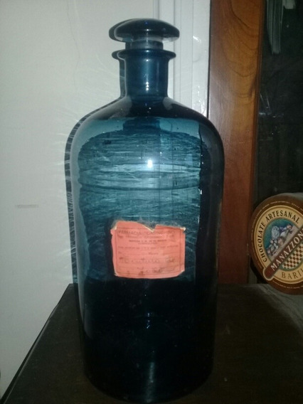 Botellon De Farmacia Antiguo 40cm.