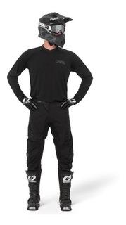 Kit Jersey Y Pantalón Motocross Oneal Element Classic Negro
